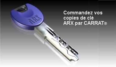 Commandez vos copies de clé ARX par CARRAT®